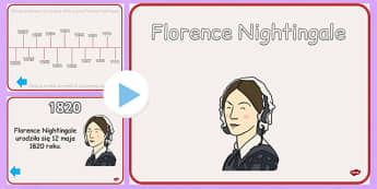 Prezentacja PowerPoint Florence Nightingale po polsku - dzieci