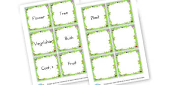 Types of Plants Name Labels - Plants & Growth Classroom Labels Primary Resources, flowers