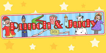 Punch and Judy Display Banner - puppets, stories, header, display