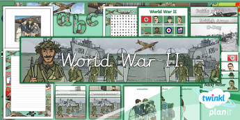 PlanIt - History LKS2 - World War II Additional Resources - second world war, world war two, world war 2, ii, display, 1930s, Britain, 1940s.