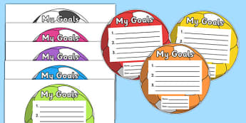 My Goals Pupil Target (Footballs) - goals, targets, my goals, pupil, football, footballs, achievement, target sheet