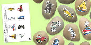 Transport Story Stone Image Cut Outs - transport, story stone, image, cut outs