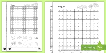 French Easter Word Search French - French, Easter, word search, picture, clue, Pâques, vocabulaire, vocabulary.,French