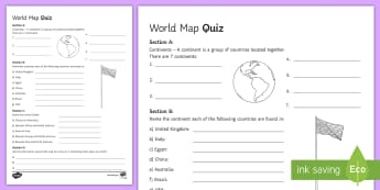 World Map Quiz - Geography, ks3, maps, quiz, activity, game,  fun, progress, world, locate