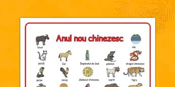 Anul Nou Chinezesc - Planșă imagini și cuvinte
