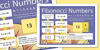 Fibonacci Numbers Display Poster - fibonacci, numbers, display poster, display, poster
