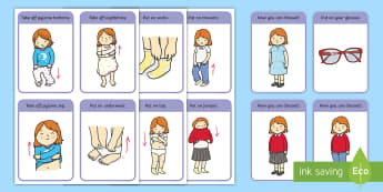 Getting Dressed Routine Cards (Girls) - Visual Timetable, SEN, Daily Timetable, School Day, Daily Activities, Daily Routine KS1,