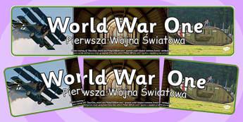 World War One Photo Display Banner Polish Translation - polish, world war one