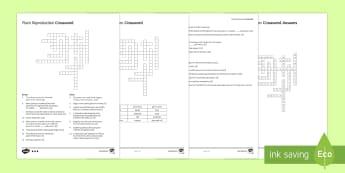KS3 Plant Reproduction Crossword - Crossword, plant, reproduction, pollination, fertilisation, germination, germinate, fertilise, polli