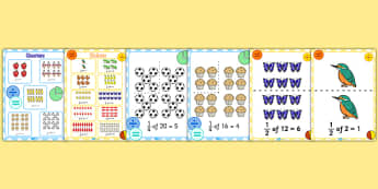 Fractions Display Pack KS1 Year 1 - fractions, display pack, ks1, year 1