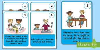 Preparing Pancake Batter Flashcards - French - KS2, KS1, La Chandeleur, recette, pâte à crêpes, pancake batter