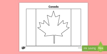 Canada Flag Colouring Page - KS2 - Invictus Games - 23rd Sept 2017