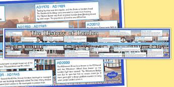 History of London Timeline - geography, UK, history, London, timeline