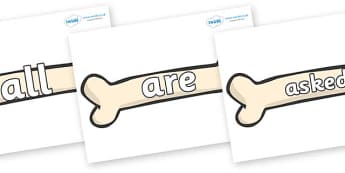 Tricky Words on Bones - Tricky words, DfES Letters and Sounds, Letters and sounds, display, words