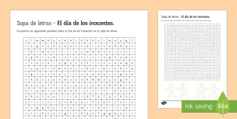 April Fools' Day Higher Ability Differentiated Word Search Spanish - april, fools, day, events, word, search, culture, Spain, Spanish, countries, traditions, festivities