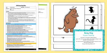 EYFS Shadow Matching Busy Bag Plan and Resource Pack