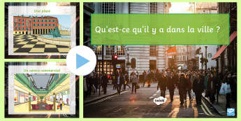 Places in Town PowerPoint French - KS3, French, Home, Town,places, endroits, supermarché, hôpital, piscine, musée,parc, place, gare,