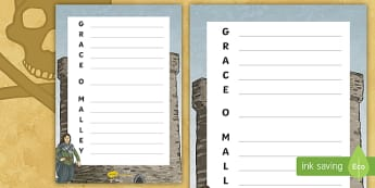 Grace O'Malley Acrostic Poem - Grace O'Malley, The Pirate Queen, Gráinne Mhaol, Ireland, pirate,Irish