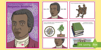 Diverse Minds on Display: Benjamin Banneker Display Pack - mathematician, great mind, black history, diverse, banneker, black culture, salve, slavery