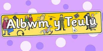 Family Album Themed Banner Welsh - albwm y teulu, header