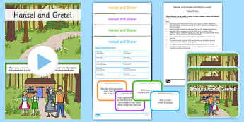 Hansel and Gretel with Blanks Levels Questions - receptive language, expressive language, verbal reasoning, language delay, language disorder, comprehension, autism, Language for Thinking