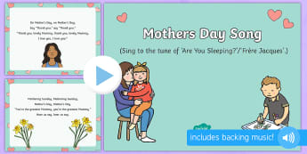 On Mother's Day Song PowerPoint - EYFS, Early Years, Key Stage 1, KS1, Mother's Day, Mothering Sunday, Mother, Mummy, Mum, parent, ca