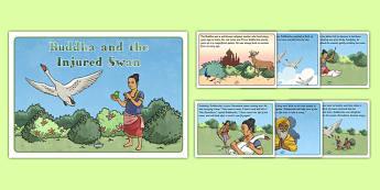 Buddha and the Injured Swan Story - buddha, injured swan, story, religion