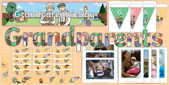 Grandparents' Day Display Pack - Grandparent's Day Pack, grandparents, grandma, granny, nan, nanny, grandpa, grandad, granddad, fami