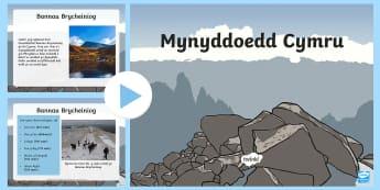 Pŵerbwynt Mynyddoedd - WL Social Media Requests in Welsh KS2 (HIGH PRIORITY) ,Welsh,Pŵerbwynt Mynyddoedd