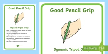 Good Pencil Grip A4 Display Poster - Back to School, Australia, pencil grip, pencil grasp, fine motor skills, hold, holding, pencil, pen