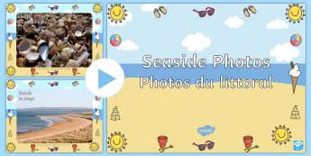 Seaside Display Photos PowerPoint English/French - Seaside Display Photo Powerpoint - seaside, the seaside, at the seaside, beach, seaside powerpoint,