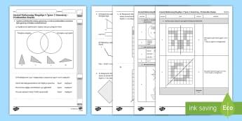 Llyfryn Mathemateg Gweithdrefnol Blwyddyn 4 Tymor 2 Geometreg a Phriodweddau Siâp - Procedural Examples, tests, test, Numeracy Tests, procedural,  Years 5, years 6, Deunyddiau Sampl Gw
