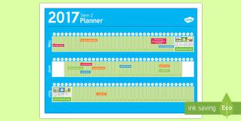 New Zealand Term 2 Calendar Plan - New Zealand, Back to School, new term, new year, planner, planning, calendar, events, dates