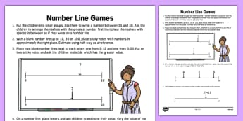 Number Line Games Teaching Ideas