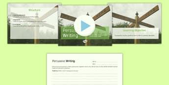 Persuasive Writing PowerPoint Pack - persuasive, writing, powerpoint
