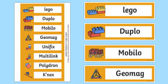 Editable Construction Area Resource Labels (Red) - Construction resource labels, Label template, Resource Label, Name Labels, Editable Labels, Drawer Labels, KS1 Labels, Foundation Labels, Foundation Stage Labels