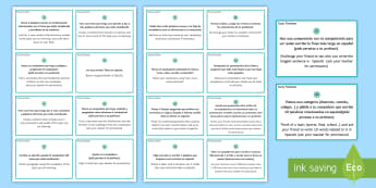 Early Finishers Challenge Cards Spanish - Spanish, Vocabulary, revision, early, finishers, challenge, tasks, cards, activities
