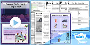 PlanIt Y3 SPaG Lesson Pack: Present Perfect Simple Past - GPS, tense, past