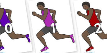 Numbers 0-31 on Runners - 0-31, foundation stage numeracy, Number recognition, Number flashcards, counting, number frieze, Display numbers, number posters