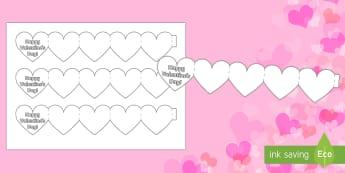 Valentine's Day Heart Mini Book - Valentine's Day,  Feb 14th, love, cupid, hearts, valentine,