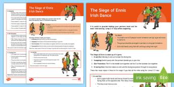 The Siege of Ennis Irish Dance Instructions Step-by-Step Instructions - Irish Language Week, Ceili, Dance, Irish Dancing, Set Dance, P.E., WAU