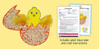 Split Pin Chick In Egg Adult Input Plan And Resource Pack - adult led