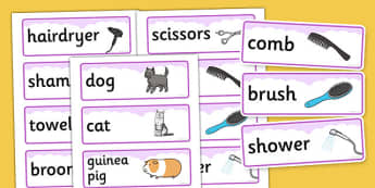 Pet Groomers Role Play Labels - pet groomers, role-play, labels