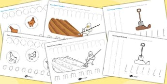 Farmer Duck Pencil Control Sheets - Farmer duck, farmer duck pencil control, pencil control, farmer duck worksheets, pencil control worksheets