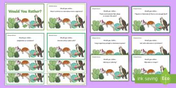 Australia - Science - KS2 Question Cards - ACSSU043, adaptation, ACSSU094, migration, hibernation, would you rather, science cards, Australian