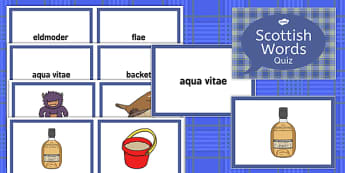 Burns Night Scottish Words Quiz - Elderly, Reminiscence, Care Homes, Burns' Night
