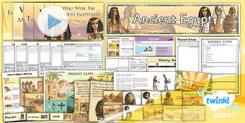 PlanIt - History LKS2 - Ancient Egypt Unit Pack - planit, unit, pack