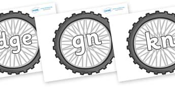 Silent Letters on Wheels - Silent Letters, silent letter, letter blend, consonant, consonants, digraph, trigraph, A-Z letters, literacy, alphabet, letters, alternative sounds