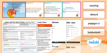 Y4 James and the Giant Peach: Activity Plan 7 PlanIt Guided Reading Pack to Support Teaching on James and the Giant Peach - James and the Giant Peach, roald dahl, insects, carousel, y4, year 4, ks2, English, literacy, readin