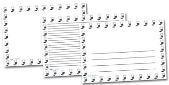 PE Kit Landscape Page Borders- Landscape Page Borders - Page border, border, writing template, writing aid, writing frame, a4 border, template, templates, landscape